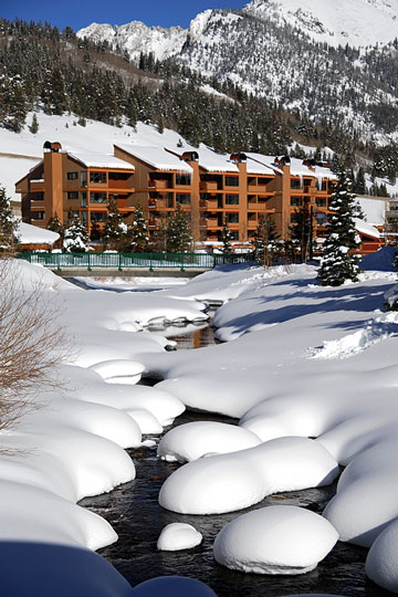 lodge at a winter ski resort